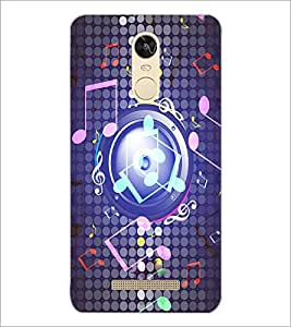 PrintDhaba Staff Notations D-3904 Back Case Cover for XIAOMI REDMI NOTE 3 PRO (Multi-Coloured)