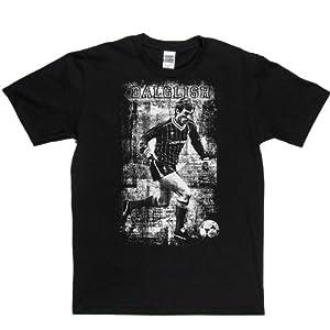 Kenny Dalglish T-shirt (black/white xlarge)