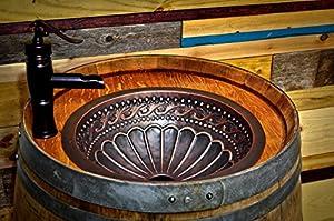 Wine Barrel Copper Sink Vanity