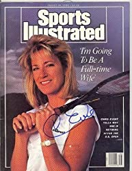 Chris Evert Autographed/Signed Sports Illustrated -August 28 1989