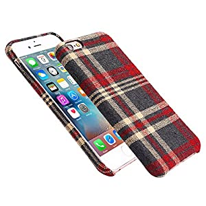 Urbst iphone 6s case 4.7 inch Flannelette fabric Slide-proof Ultra-thin and soft 360-degree comprehensive protection for iphone 6 case 6s case(RED)
