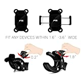 FTLL Bike Mount Holder for Cell Phone, GPS Holds Devices, Video Recorder, iPhone 6 6S 6 Plus 5S 5C 4S,Samsung Galaxy S7 S6 S5 S4 Note 3 4 5,Nexus 5 6p,HTC,LG,Nokia,Other Smartphones (Black)