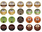 Crazy Cups Chocolate Lovers Coffee and Cocoa Deluxe Sampler, Single-cup pack sampler for Keurig Single serve cup Brewers (Pack of 20)
