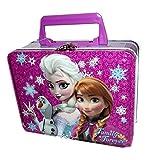 Disney Frozen Elsa, Anna & Olaf Small Purple Tin Lunch Box