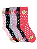 Womens Poly Blend Soft and Stretchy Crew Pattern Socks are comfortable and easy to wear all day. Available in size of 9-11. Value Assorted 6-Pack. ( 12+ designs )