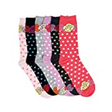 Women's Poly Blend Soft and Stretchy Crew Pattern Socks are comfortable and easy to wear all day. Available in size of 9-11. Value Assorted 6-Pack. ( 12+ designs )