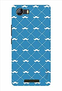Noise Multi Moustaches Blue Printed Cover for Micromax Canvas Spark 2 Q334