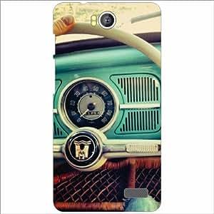 Intex AQUA 4.5E Vintage Cars - Silicon Phone Cover