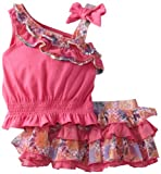 Little Lass Baby-Girls Newborn 2 Piece Scooter Set With Ruffles