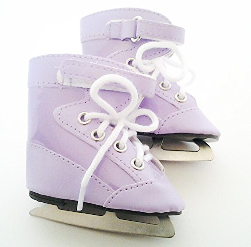 PURPLE ICE SKATES FOR AMERICAN GIRL DOLLS