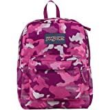 "JanSport Superbreak Backpack - Fluorescent Pink Streaky Camo / 16.7""H x 13""W x 8.5""D"