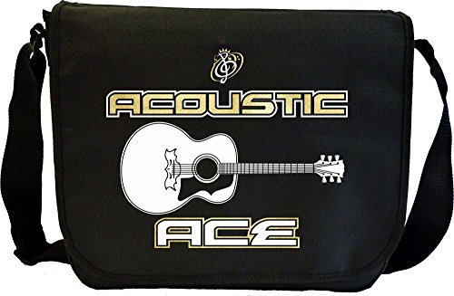 Acoustic Guitar Ace - Sheet Music Document Bag Borsa Spartiti MusicaliTee