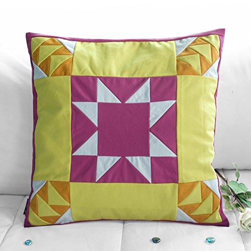 [Ei flag] handgemachte Segeltuch dekorative Kissen einzigartigen Gitterkissen -