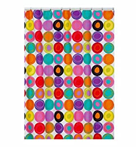 Amazon.com - Creative Bath Fabric Shower Curtain - Dot Swirl ...