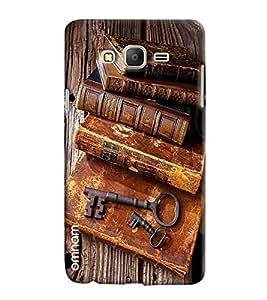 Omnam Vintage Books Impression Printed Designer Back Cover Case For Samsung Galaxy On 5