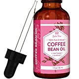 #1 TRUSTED Leven Rose Coffee Bean Oil - 100 % Natural Pure Cold Pressed Unrefined Coffeebean Oil - 1 oz Bottle (1 ounce)