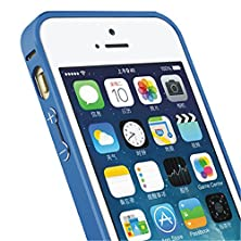 buy For Iphone 5 5S Case,[Gloryshop] Blue - Hippocampal Buckle Metal Bumper Protector Skin Cover Case For Apple Iphone 5 5S