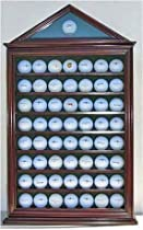 57 Golf Ball Display Case Shadow Box Wall Cabinet Holder Rack w/ 98% UV Protection (GB57-MA)