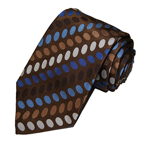 turnbull-asser-mens-100-jacquard-silk-neck-tie-necktie-ovals-brown-blue-white
