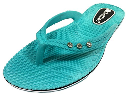 Flip Flops With Rhinestones