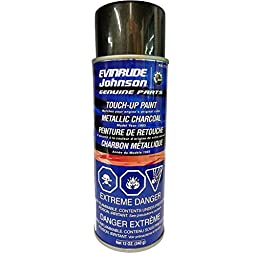 OEM BRP OMC Johnson Evinrude 1985 Metallic Charcoal Touch-Up Spray Paint