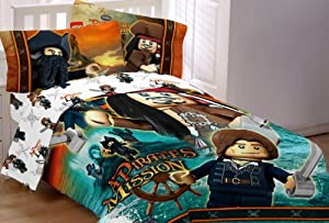 Lego Pirates Of The Caribbean Double Bed 3 Piece Sheet Set No Duvet Cover Included
