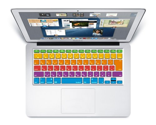 [RainBow] 日本語 キーボードカバー (JIS配列) 〈 for MacBook Air 13/Retina 13,15インチ用〉 《RainBow オリジナルカラー》 レインボーカラー key-a3r-RBW