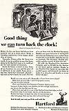 1955 Hartford Insurance: Turn Back the Clock, Hartford Insurance Print Ad