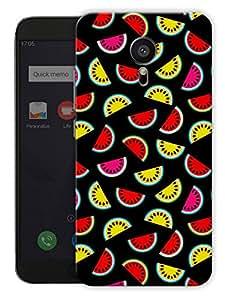 "Humor Gang Watermelon Fruit Pattern - Green Printed Designer Mobile Back Cover For ""Meizu Mx5"" (3D, Matte, Premium Quality Snap On Case)"