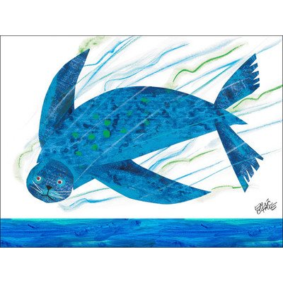 "Oopsy Daisy NI2594 Eric Carle's Sealion Canvas Wall Art, 24"" by 18"""