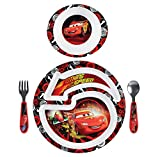 The First Years Disney/Pixar Cars 4 Piece Feeding Set, Patterns May Vary