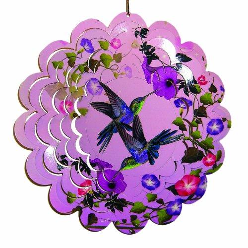 "Hummingbird Painted Metal Spinner 12"" Dia"