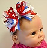 4th of July Bow Baby Headband (1.5