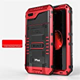 iPhone7 iphone7plus アルミケース メタル 耐衝撃 iphone7 iPhone7 Plus ケース 完全防水 水中使用 iphone7/7plus ケース アルミバンパーケース お洒落 かっこいい (iphone7 plus, レッド)