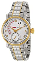 Bulova Accutron Amerigo Steel & Gold Plated Mens Watch Retrograde Date 65C107