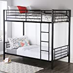 Walker Edison Twin-Over-Twin Metal Bunk Bed, Black