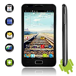 N800 MTK6575 Android 4.0.3 3G Smartphone GSM+WCDMA Dual Standby Quad Band with 4.3 Screen and GPS (Black)