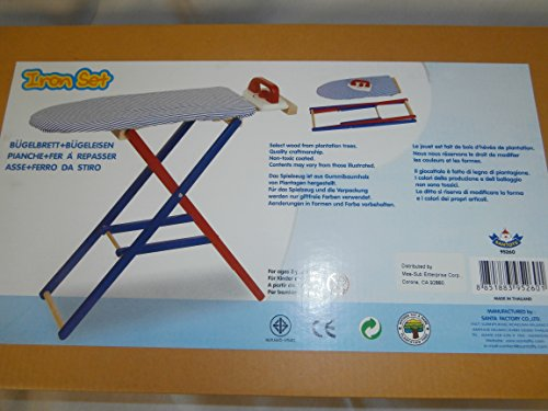 Santoys Kinder Bügelbrett mit Bügeleissen aus Holz F5260