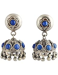 Jewels Of Jaipur Traditional Antique Jhumki Silver Earring For Her TER-386
