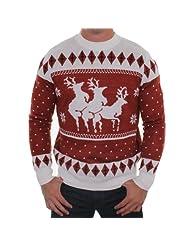 Ugly Christmas Sweater Reindeer Menage