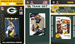 NFL Green Bay Packers 3 Different Licensed Trading Card Team Sets by C&I Collectables