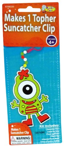 Monster Camp Topher Back Pack Clip Craft Activity Kit
