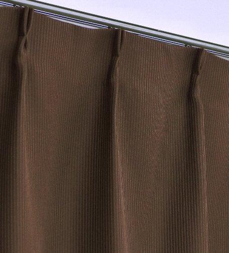 厚地カーテンとレースカーテンのセット 防炎・遮光カーテンと防炎・防視・UVカット・断熱機能付きレース アリスSET-ブラウン 幅100x200cm 4枚組(アリス+Lエルア)