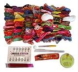 衣装作り ハロウィン にも 刺繍糸 100束 98色 カラー豊富で 多彩な用途 入門裁縫キッド オリジナル ミサンガ グッツ 作りに