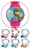 Disney(ディズニー) アナと雪の女王 キラキラ ウォッチ キッズ 子供用 腕時計 女王ブレスレット付 (a:アナ)