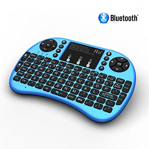 Rii i8+ BT Mini Wireless Bluetooth Backlight Touchpad Keyboard with Mouse for PC/Mac/Android, Blue (RTi8BT-3) (Mac Touchpad Keyboard compare prices)