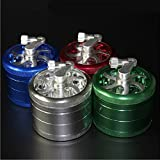 4-layer Aluminum Hand Crank Herbal Herb Tobacco Grinder(Style-1)