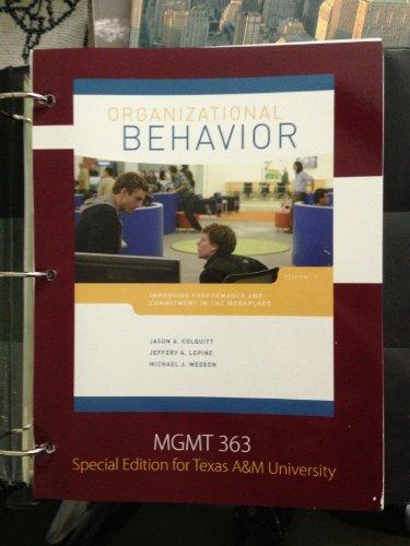 Organizational Behavior Improving Performance