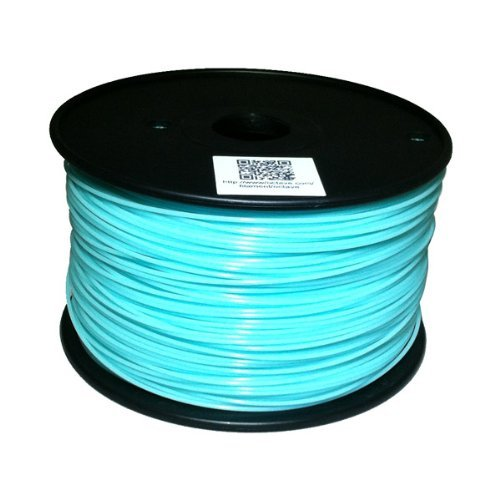 ABS 3mm Glow in the dark blue, 1Kg on Spool for Reprap, Mendel, Darwin, MakerBot, RapMan and other 3D Printers