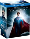 """Man of Steel - with Collectible """"S"""" T-Shirt (Bilingual) [Blu-ray + DVD + Ultraviolet]"""